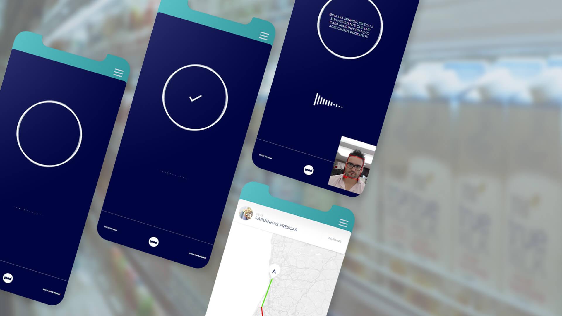 load mobile mockup of conversational bots artificial intelligence