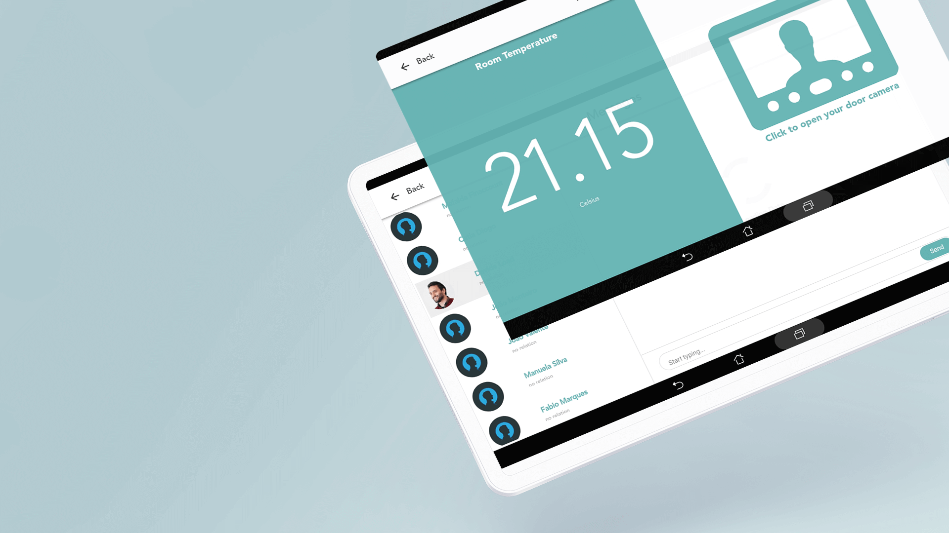 tablet mockup of vizier project for the elderly